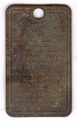 Lord's Prayer Pendant